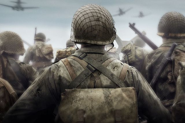 The Back Of A World War 2 Soldier