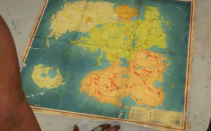 The map of Yara in Far Cry 6 is shown off, with four distinct regions and an island in the South-West corner.