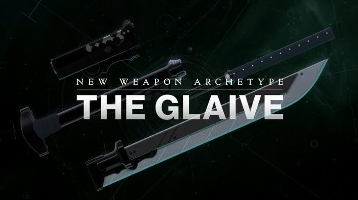 Image from Destiny 2 showing The Glaive weapon type