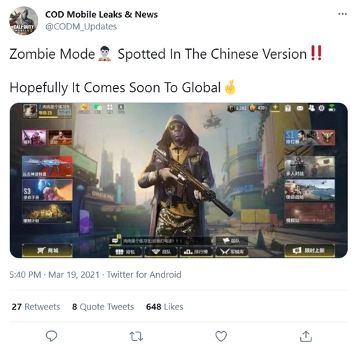 COD Mobile Zombies Mode 2021