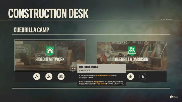 Building a Hideout Network Facility from a Guerilla Camp in Far Cry 6.