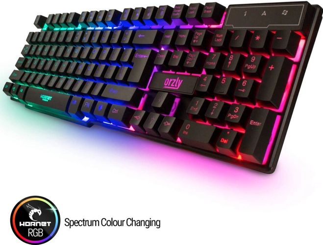 The keyboard from this bundle is shown with its Spectrum Colour Changing Feature
