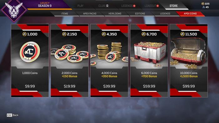 Apex Legends Apex Coins prices