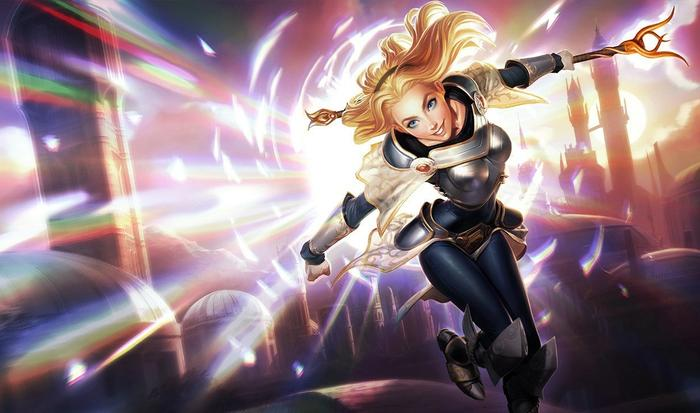Lux from League of Legends.
