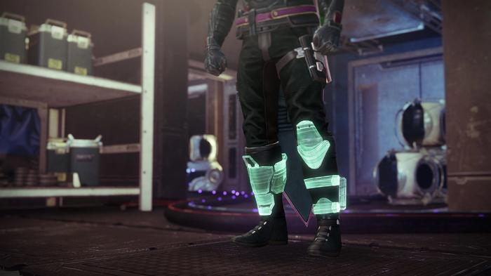 Image from Destiny 2 showing the Radiant Dance Machines exotic armour.