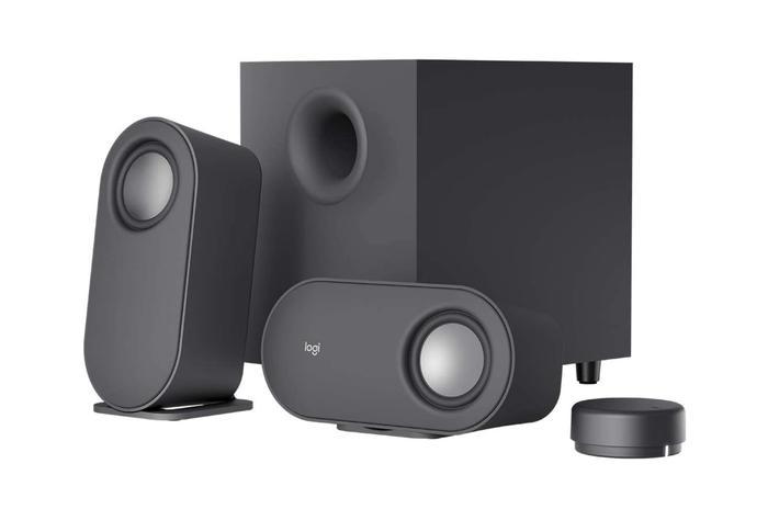 Best desktop speakers Logitech 2.1 setup with dial