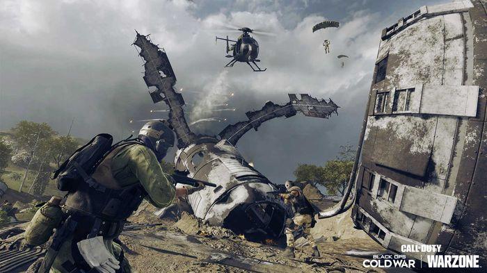 Warzone's satellite crash POI.