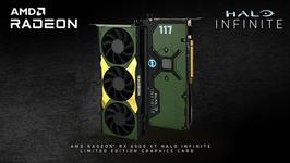 The limited edition Halo Infinite AMD Radeon Graphics Card