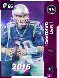 Jimmy Garoppolo flashbacks Madden ultimate team 95 OVR card