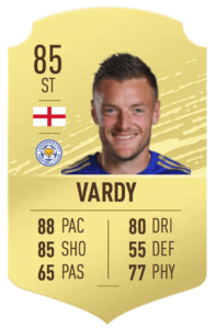 VARDY - Jamie Vardy saw his POTM card upgraded after jumping to an 85 OVR last year