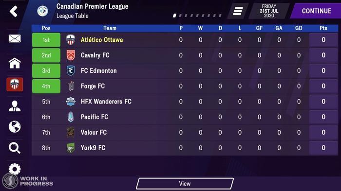 Canadian Premier League FM21 1