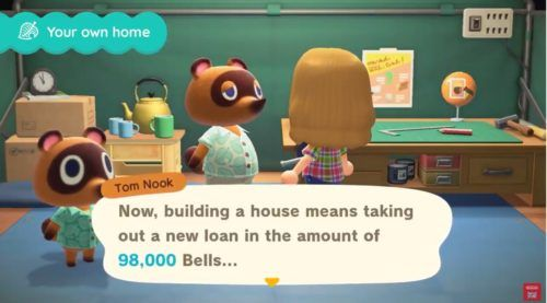 Animal Crossing New Horizons House cost