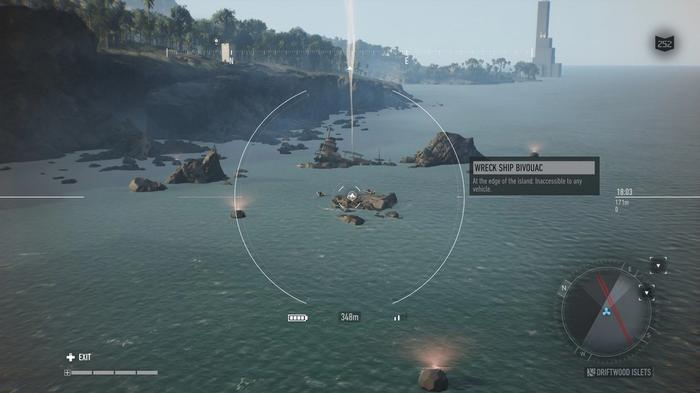 SMOKE ON THE WATER -- Find bivouacs for fast travel points