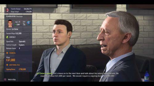 FIFA contract negotiation