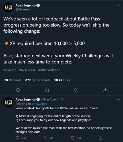 Apex Legends Battle Pass changes