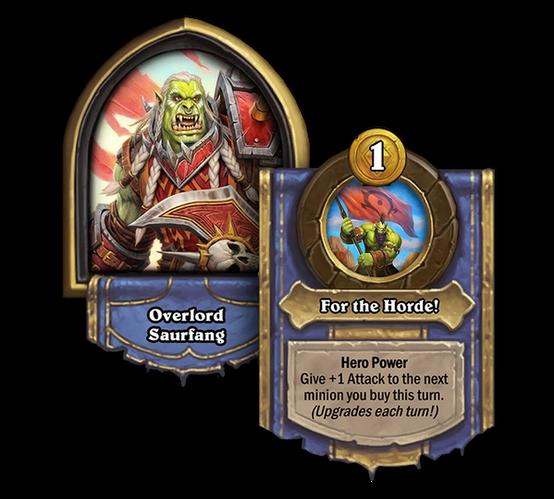 Hearthstone Overlord Saurfang Hero Card