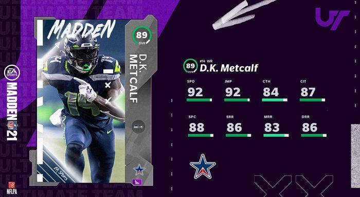 MUT 21 team standouts DK Metcalf