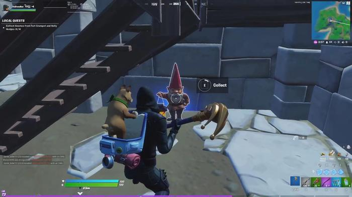 Fortnite Collect Gnomes from Fort Crumpet and Holly Hedges 3