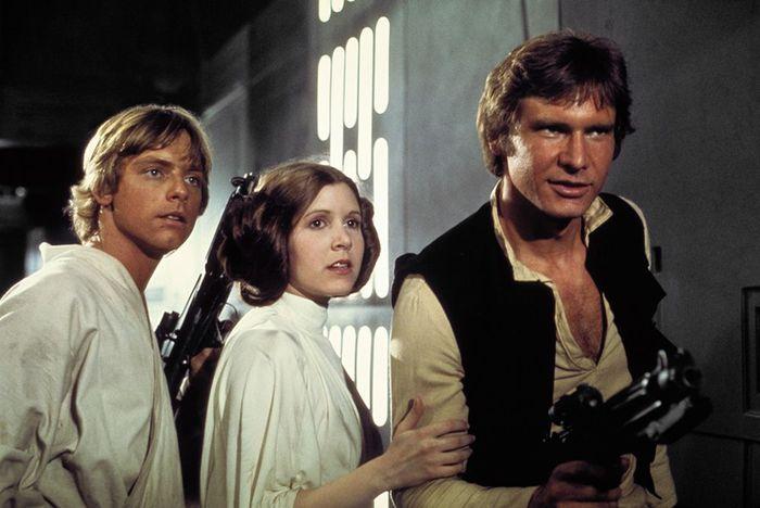 Star Wars Luke Leia Han Episode 4 Death Star