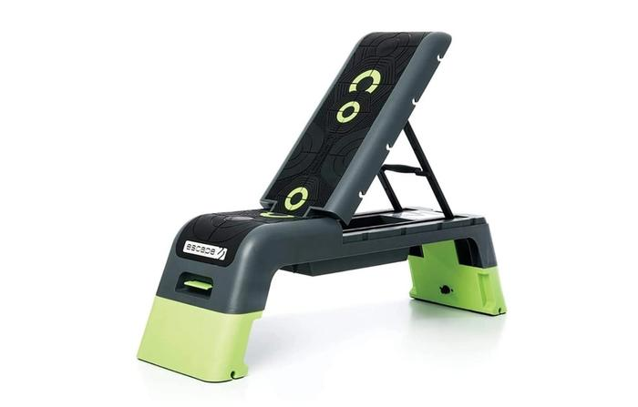 Best weight bench, exercise deck green and black product image