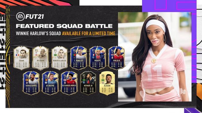 winnie harlow fifa 21 featured squad battle