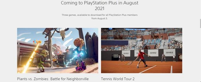 ps plus, august