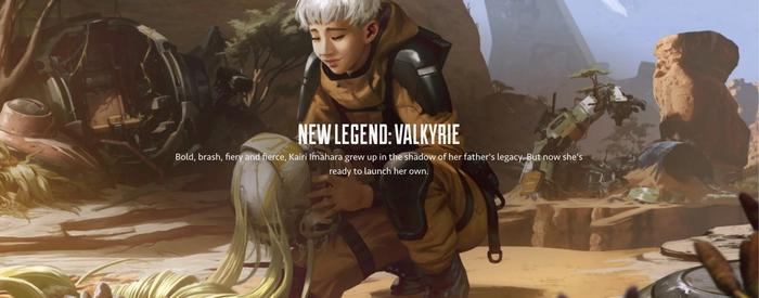 Apex Legends New Character Banner Valkyrie