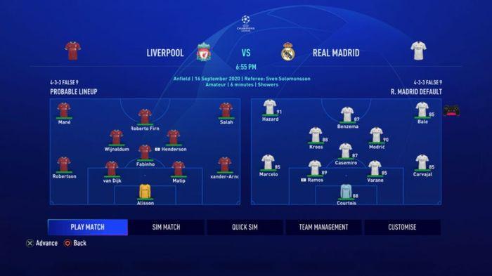 fifa career mode match screen