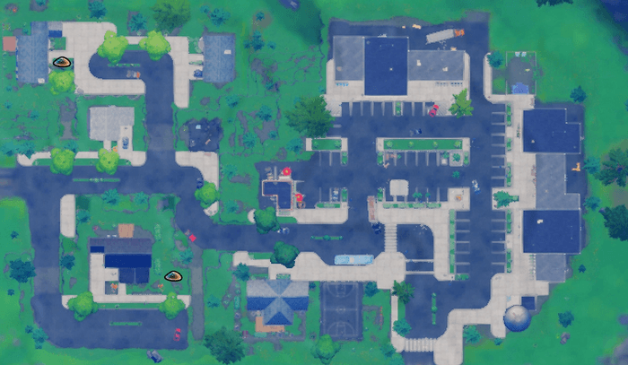 Bury Gnomes in Pleasant Park or Retail Row Retail Map
