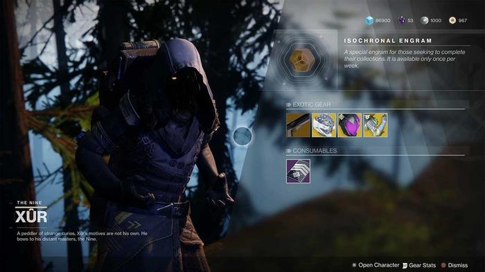 destiny 2 xur inventory