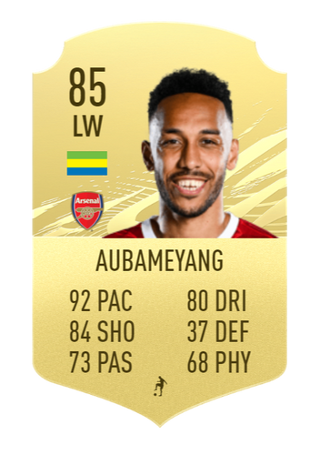Aubameyang FIFA 22 Prediction