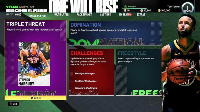 NBA 2K21 Home Page