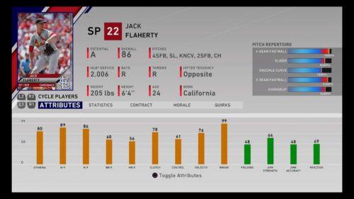 Jack Flaherty MLB The Show 20 best U25 players franchise mode diamond dynasty RTTS