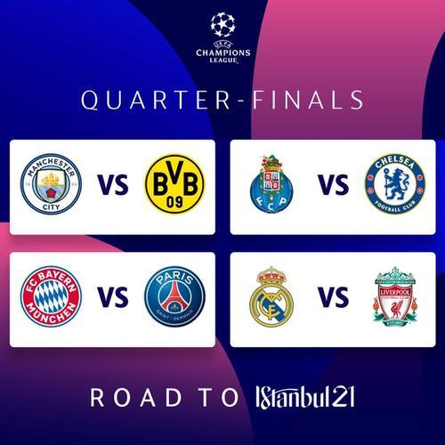 eufa champions league quarter final draw