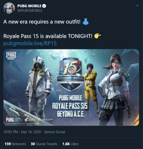 PUBG Mobile Season 15 Royale Pass Beyond A C E