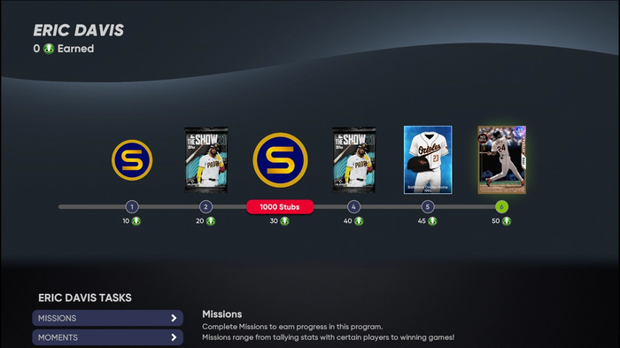 How to get stubs in MLB The Show 21 Program Rewards