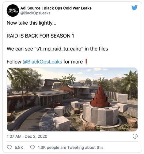 Call of Duty Raid map season one