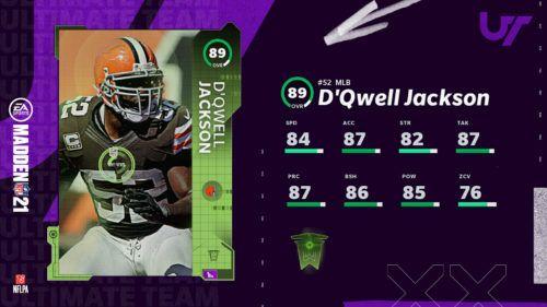 MUT 21 TOTW 2 Defensive Hero DQwell Jackson 1 1