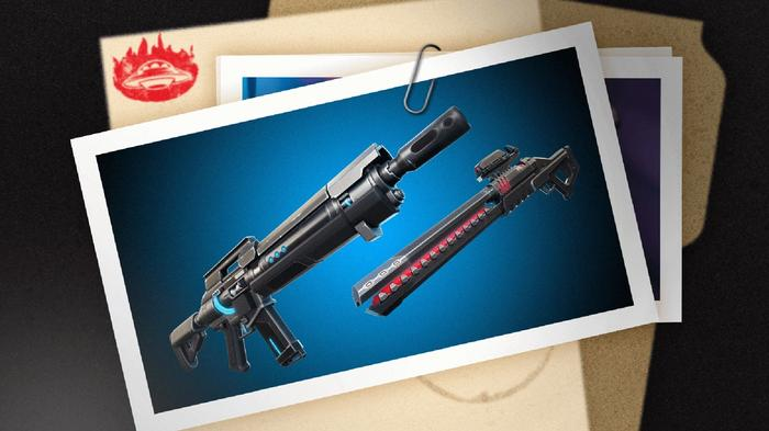 Fortnite IO Weapons Pulse Rifle and Rail Gun