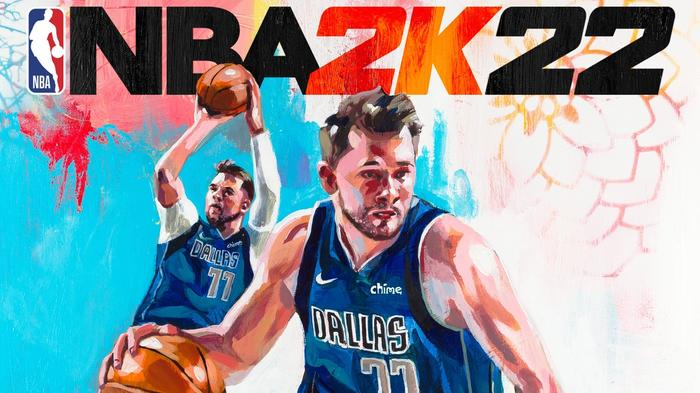 Luka Doncic, of the Dallas Mavericks, graces the NBA 2K22 cover