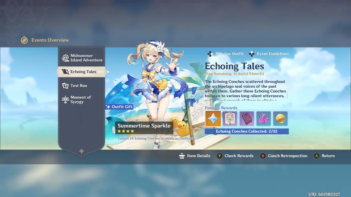 Genshin Impact Echoing Tales Screen