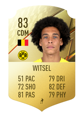 AXE-RATED - Witsel's rating may be on the decline, but he's solid in midfield