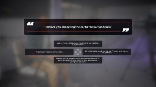 F1 2020 My Team Question