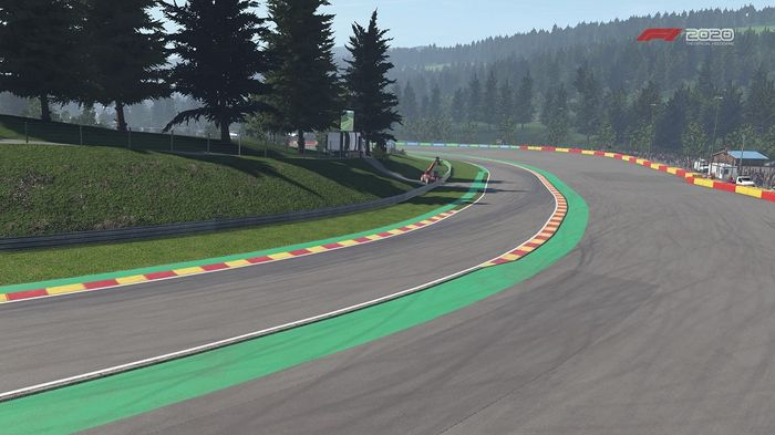 F1 2020 Belgian GP Spa Turn 12 Pouhon