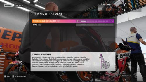 MotoGP™20 Steering adjustment setup Spain
