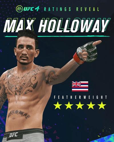 UFC 4 Update Max Holloway Rating 5 Stars