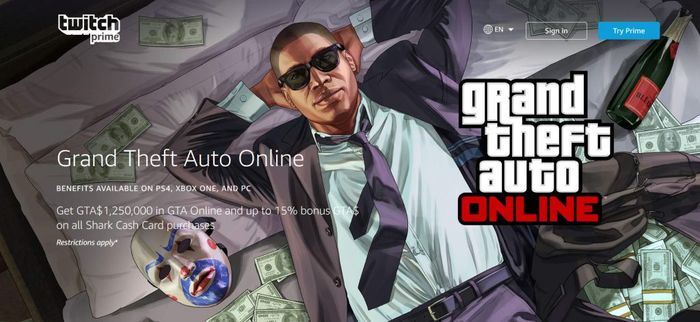 GTA Online Twitch Prime Perks