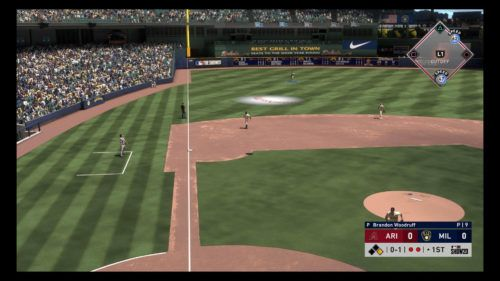 MLB The Show 20 fielding guide short fly ball