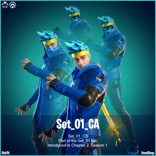 QUADRUPLE VISION: Ninja's skin features his iconic blue haircut
