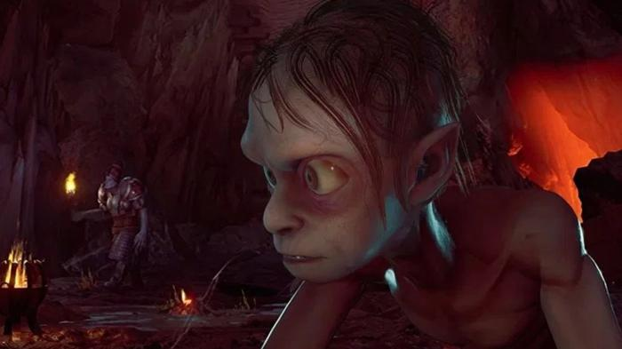 The Lord of the Rings Gollum Close Up